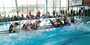 Drachenboot Indoorcup im Aquatoll in Neckarsulm am 1. Februar 2020