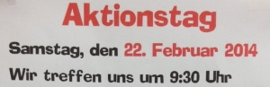 22. 02: Aktionstag am Bootshaus